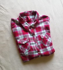 Karirana oversize košulja