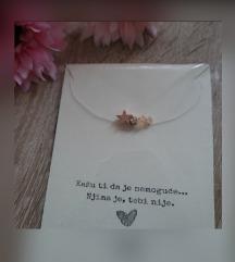 Prozirna ogrlica s 3 privjeska 🥰💫