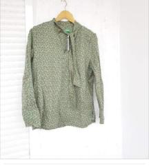 BENETTON zelena košulja s mašnom