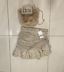 Zara polka dot mini suknja