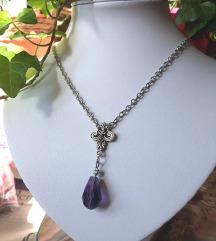 Art nouveau ogrlica ljubičasta