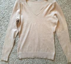 Bež pulover majica vel M