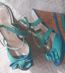 MASS tirkizne sandale s punom petom