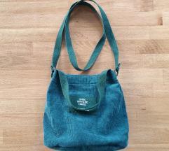 Nova tamnozelena torbica od samta