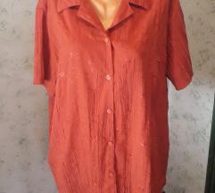 Narančasta bluza sa izvezenim detaljima
