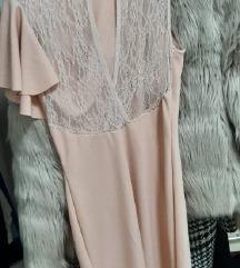Svečana haljina sa čipkastim leđima