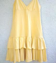 TERRANOVA - ljetna mini haljina, žuta sa volanima