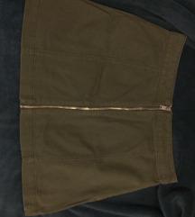 Maslinasta/zelena suknja sa zipom
