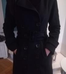 Crni kaput duplo kopčanjem AKCIJA 55kn