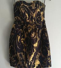 Zlatno crna svecana haljina