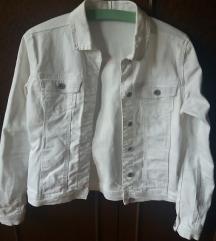 Traper/jeans/denim jakna, bijela - nova