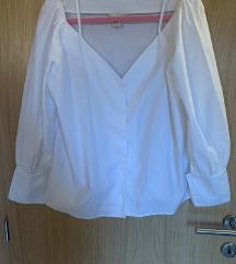 H&M bijela košulja od pamuka