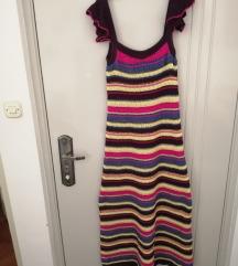 Duga kukičana haljina Zara M nova