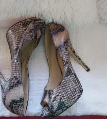Nove ALDO , snake print peep toe, prava koza 40