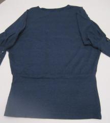 Tamno plava majica šišmiš rukavi