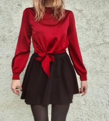 Crvena bluza na vezanje