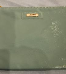 Miu Miu tirkizna kozmetička torbica