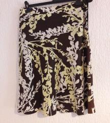 Šarena lanena suknja H&M
