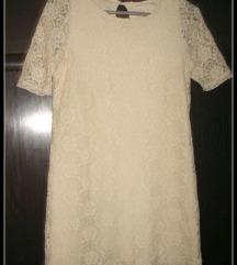Zara cipkasta haljina S
