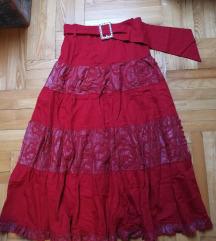 Nova crvena suknja S/M
