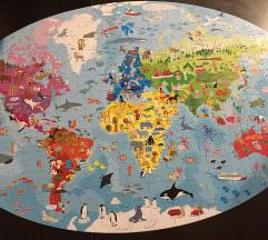 Puzzle ovalne planet zemlja