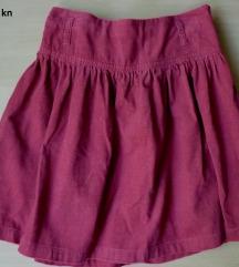 Zara samt suknja,140, 9-10 g.