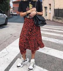 Animalprint suknja sa volanima