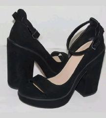 Zara visoke velvet sandale