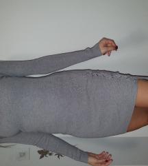 zgodna siva haljina