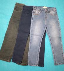 3 para hlača za djevojčice vel. 98-104