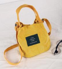 Nova žuta torbica od samta