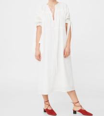 MANGO bijela midi haljina