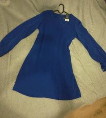 Tamnoplava haljina novo