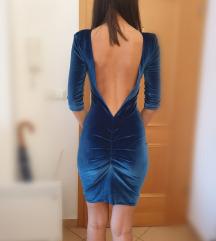 Ivana Jurić petrolej plava haljina%