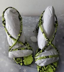 Neon snake sandale