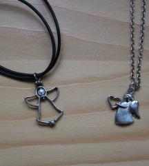 Dvije anđel ogrlice