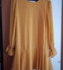 Zara žuta haljina na točkice