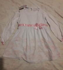 Novi s etiketom kompletić  haljinica i majica