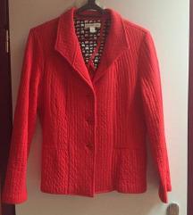 Pamučni crveni sako