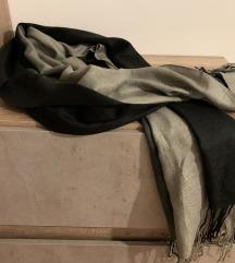 Lagana sivo-crna pašmina