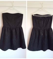 Amisu brokatna večernja haljina paisley uzorka