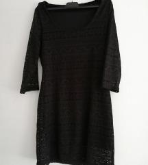 Crna kratka čipkasta haljina