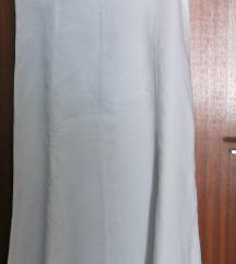 Maxi, bijela haljina od lana