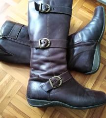Podstavljene zimske zensle cizme br. 38 smeđe