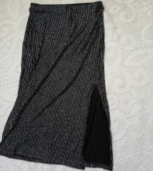 Midi uska suknja crna