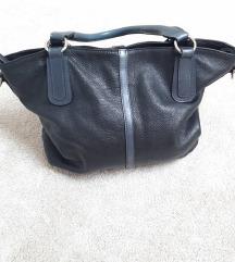 Crna kožna torba Guliver