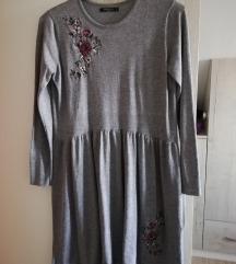 Mohito siva končana haljina M
