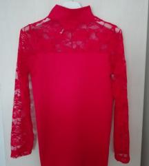 Crvena majica sa čipkom