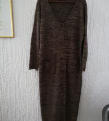 Duga pletena haljina