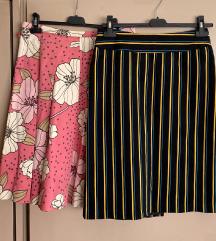 Plisirana i prugasta suknja